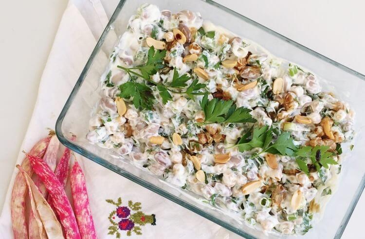 Yoğurtlu taze barbunya salatası tarifi