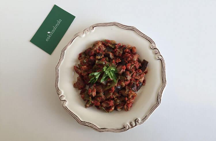 Mis gibi domates kokulu patlıcan/kabak tava tarifi