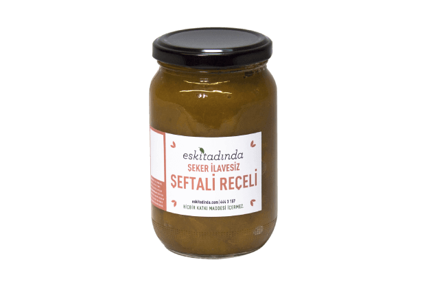 Şeftali Reçeli (355gr, Şekersiz)