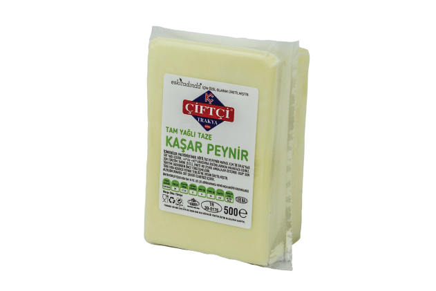 Çiftçi Trakya Taze Kaşar Peynir (500gr)